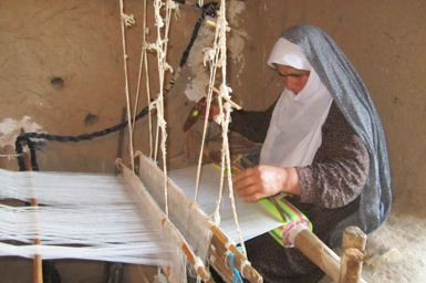 هنر چپری بافی یکی از صنایع دستی استان مازندران!