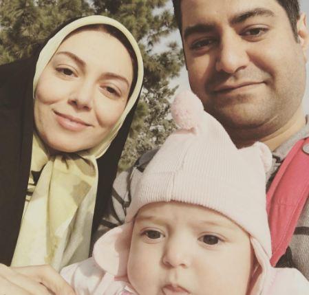 آزاده نامداری مجری کشورمان و عکسهایی دیدنی از همسر و دخترش!