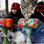 هنر بادله دوزی یا تلی بافی از صنایع دستی شهر زیبای بندرعباس!+عکس