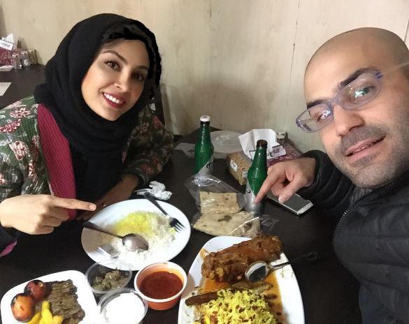 حدیثه تهرانی بازیگر سینما و عکسهایی دیدنی از وی و همسرش!
