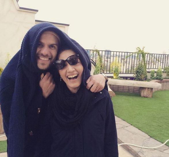 مینا ساداتی و همسرش بابک حمیدیان