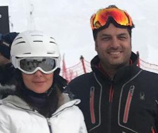 سام درخشانی و همسرش عسل امیرپور و اسکی کردن!+تصاویر