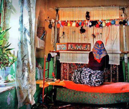 فرش جیریا در استان مرکزی از انواع پرطرفدار فرش!+تصاویر