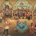 نقاشی قهوه خانه شیوهای از نقاشی ایرانی!