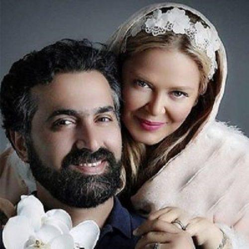 بهاره رهنما و همسرش پای دیگ نذری در اربعین حسینی