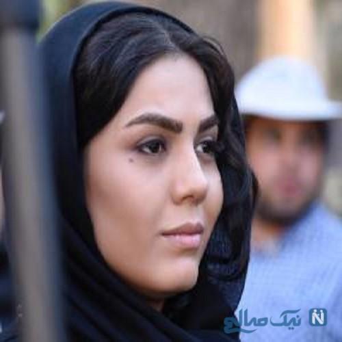 آزاده زارعی بازیگر ایرانی به عنوان مدل آرایشی