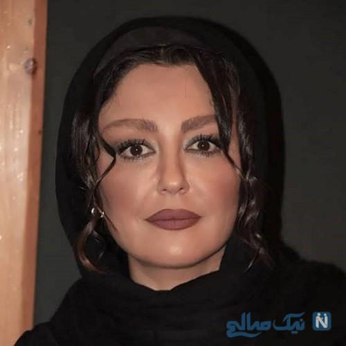 شقایق فراهانی بازیگر ایرانی در آغوش پدرش
