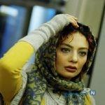 یکتا ناصر بازیگر ایرانی در یک شب سرد در جاده چالوس