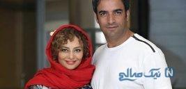 یکتا ناصر و منوچهر هادی در پشت صحنه یک فیلم جدید