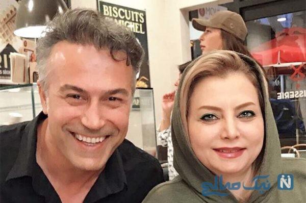 دانیال حکیمی و همسرش