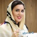 عکس لیلا بلوکات با چادری گل گلی درکنار فرزاد حسنی