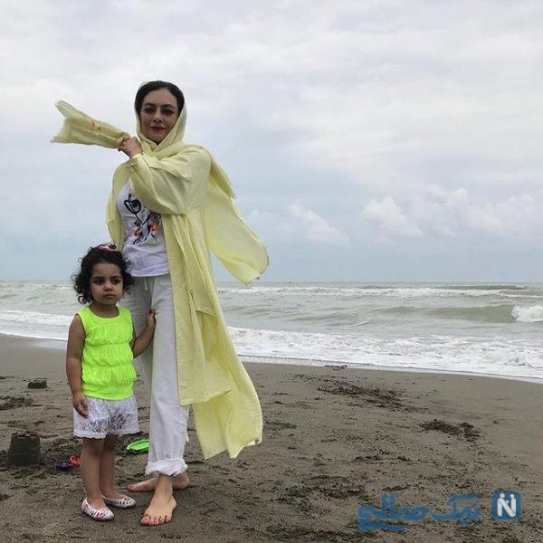 عکس از یکتا ناصر و دخترش