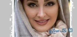 الهام حمیدی و همسرش در جشن حافظ