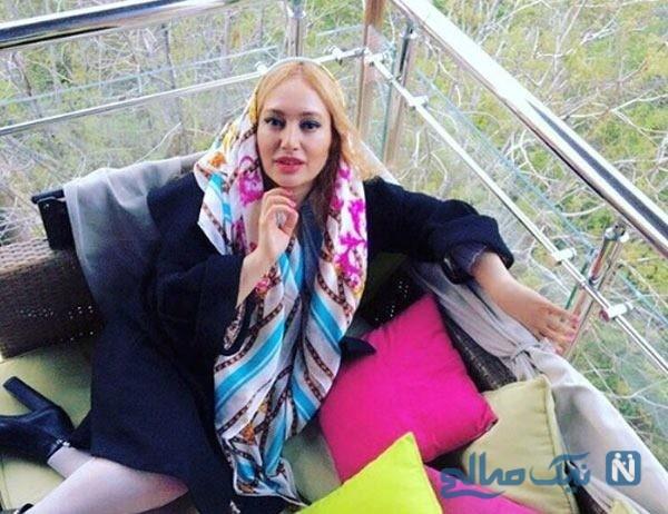 بازیگر زن ایرانی و ۴ جوان خوش قد و بالا آیا بادیگاردش هستند ؟ +عکس