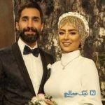 عکس عاشقانه سمانه پاکدل و همسرش هادی کاظمی