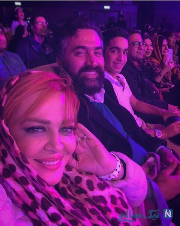 بهاره رهنما و همسرش در کنسرت