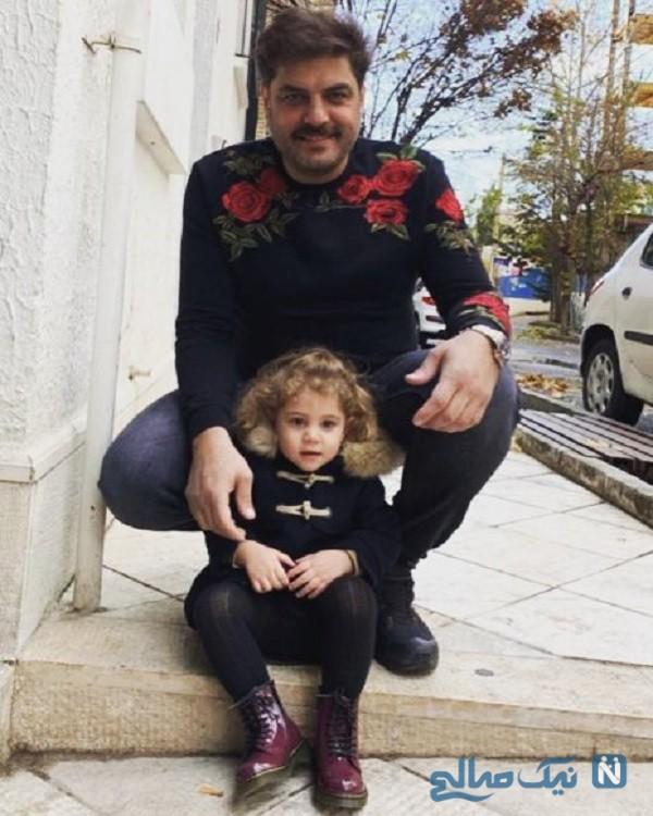 عکس جدید سام درخشانی و دخترش