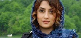 الهام طهموری بازیگر سریال وارش به همراه همسر مو فرفریش