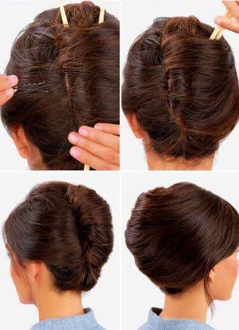 آموزش تصویری درست کردن یک مدل موی آسان تصاویر
