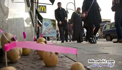 هنرمندی که به سیب زمینی ها شخصیت داد