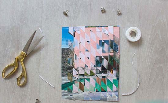 آموزش ساخت تابلو با برش های عکس های خود