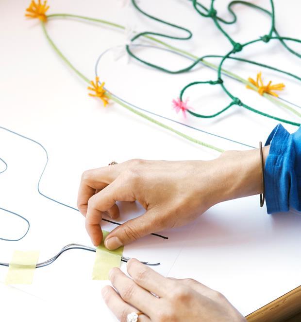 ساخت کاردستی یک باغ سیمی  تصاویر
