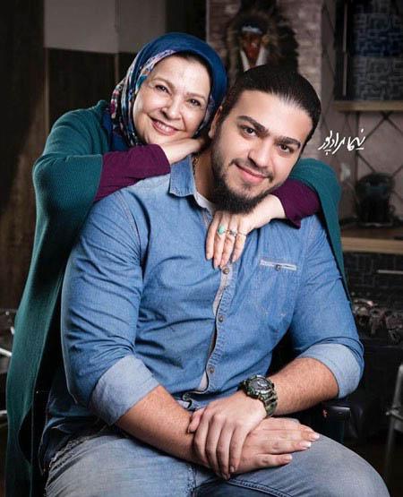 افسر اسدی بازیگر زن به همراه پسر و همسرش اصغر همت تصاویر