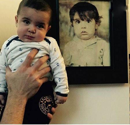 آقا آرسام پسر شهرام محمودی و چهره ی بانمکش تصاویر