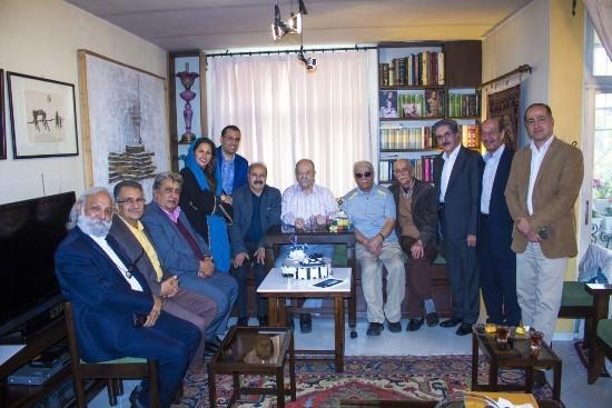 جشن تولد ۸۶ سالگی محمدعلی کشاورز تصاویر
