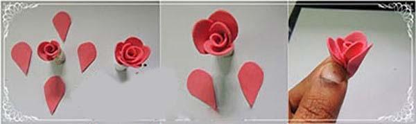 به راحتی یک دسته گل رز درست کنید/آموزش ساخت گل رز تصاویر