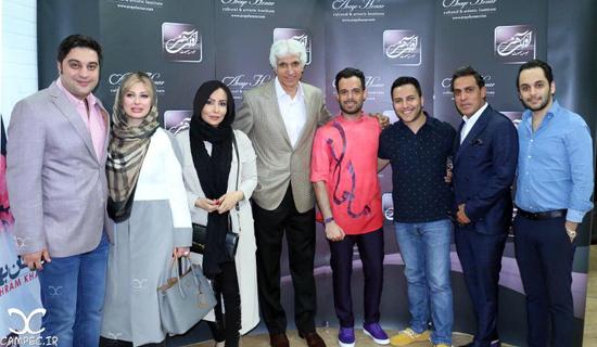 نیوشا ضیغمی و همسرش و سایر بازیگران در کنسرت ماهان بهرام خان