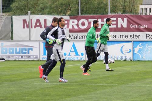 برگزاری آخرین تمرین تیم ملی در اتریش