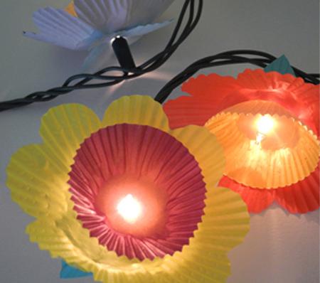 آموزش درست کردن کاردستی لامپ کاپ کیکی با وسایل بسیار ساد