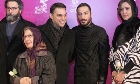 نوید محمدزاده بازیگر سینما در کاخ جشنواره سی وچهارم تصاویر