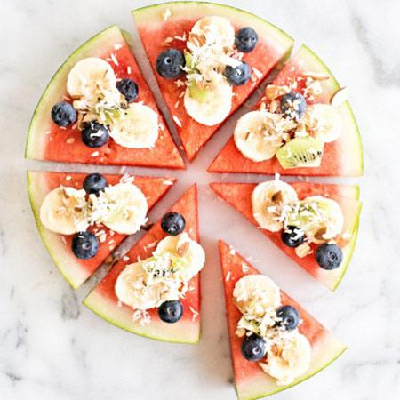 تزیین هندوانه به شکل پیتزا تصاویر