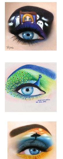 نقاشی های حرفه ای و دیدنی روی چشم