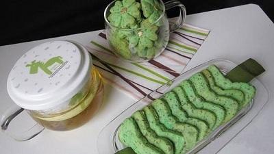 تا حالا بیسکوئیت چای سبز خوردین! عکس