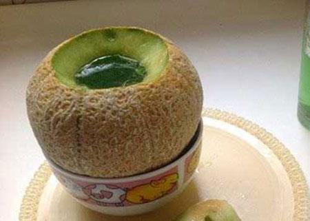 تزیین ژله در پوست میوه  تصاویر