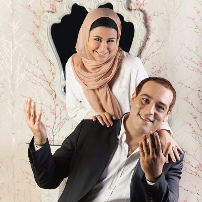 گفتگو با یاسمینا باهر، بازیگر سریال خانم و آقای سنگی و همسرش امیرال ارجمند  تصاویر