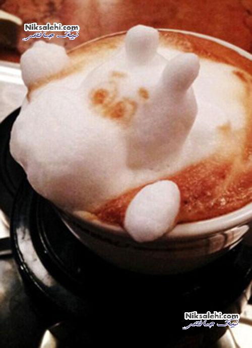 اثرهای خارق العاده هنرمند ژاپنی بر روی قهوه