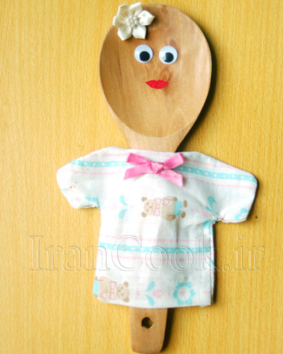 ساخت کاردستی عروسک چوبی  تصاویر