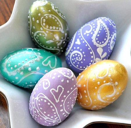 آموزش تزیین تخم مرغ سفره هفت سین بسیار متفاوت و زیبا تصاویر