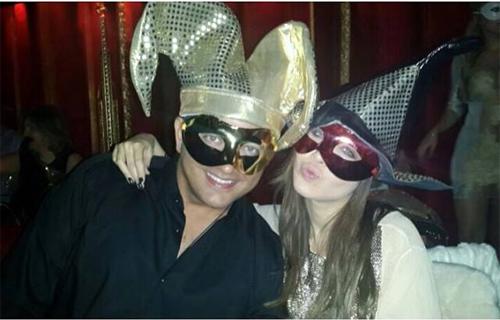 نانسی عجرم و همسرش در شب سال نو