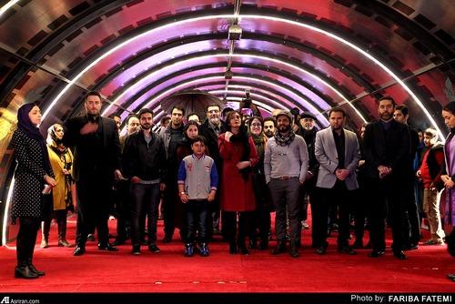 بازیگران مشهور در فرش قرمز روز دوم جشنواره فیلم فجر