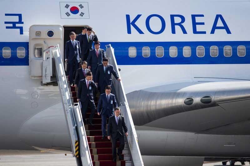 تصاویری از ورود بانوی اول کره جنوبی به تهران