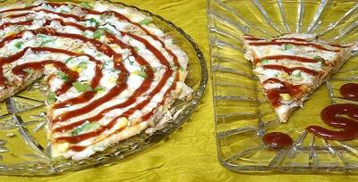 پیتزا مرغ بدون خمیر، یک پیتزای متفاوت و بسیار لذیذ! عکس