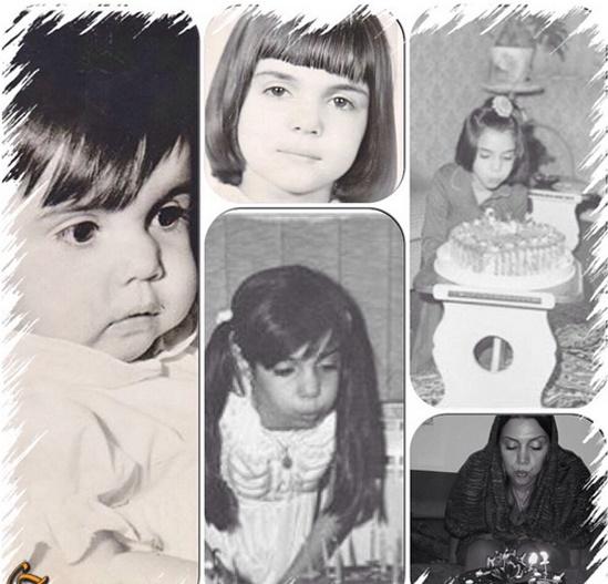 الهام پاوه نژاد در کودکی  عکس