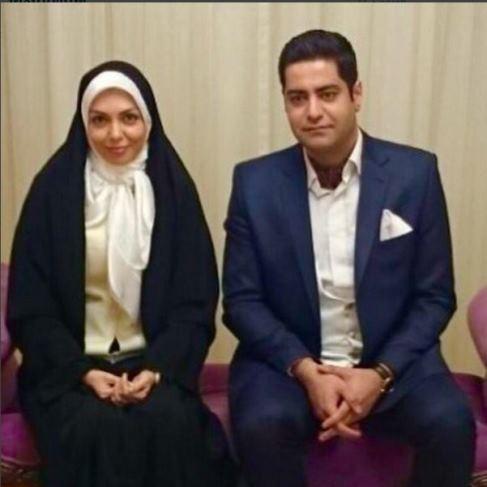 آزاده نامداری در کنار همسر دومش سجاد عبادی تصاویر