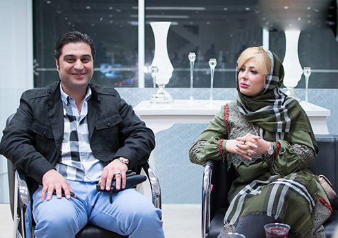 نیوشا ضیغمی به همراه همسرش آرش پولادخان در یک بازارچه خیریه! تصاویر