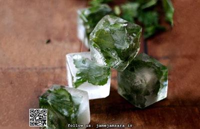 پذیرایی از مهمانان با تزئین یخ تصاویر